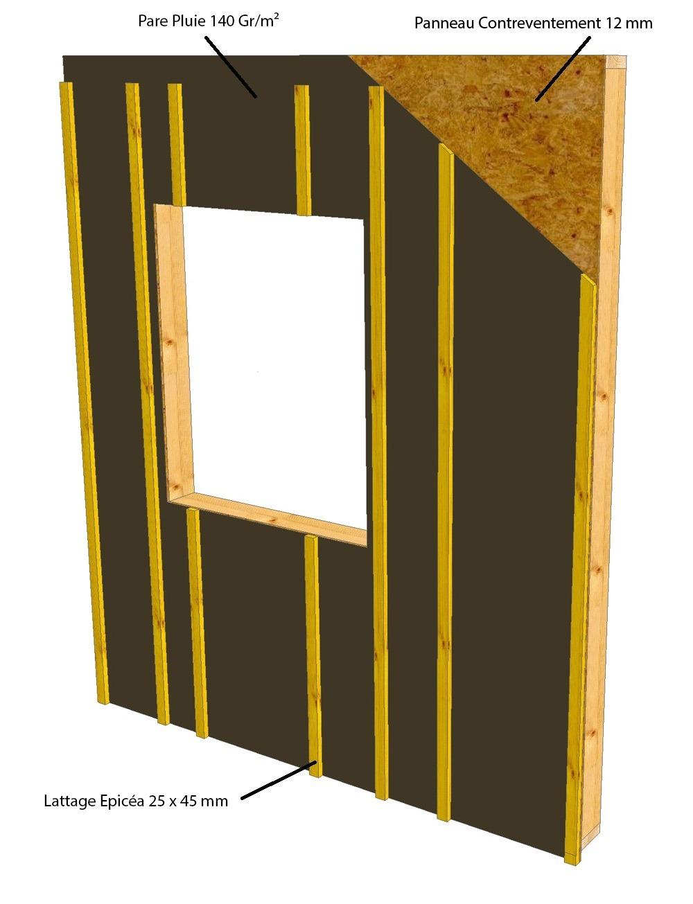 autoconstruction mur ossature bois osb