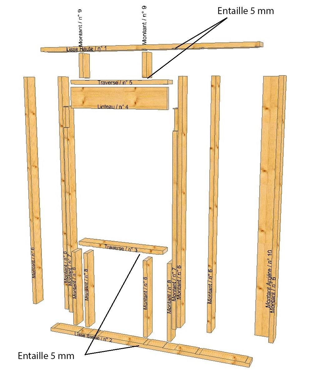 autoconstruction ossature bois en précut hundegger k2
